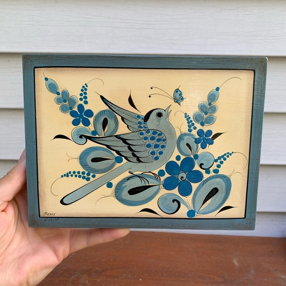 Vintage Hand-painted Mexican Themes Bird